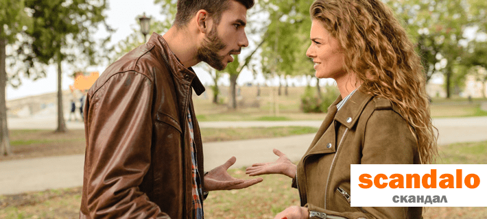 Девушка и парень скандалят на итальянском языке