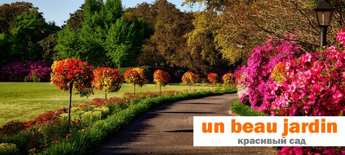 Красивый сад на французском языке