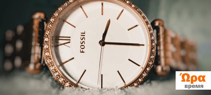 Часы, время на греческом языке
